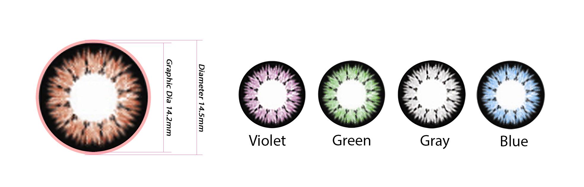 kính áp tròng màu nâu đẹp an toàn chất lượng cao