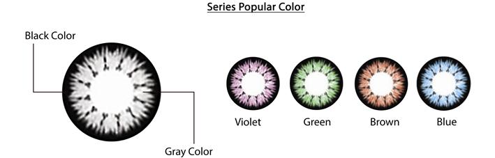 kính giãn tròng màu gray chất lượng an toàn đeo êm không bị khô mắt