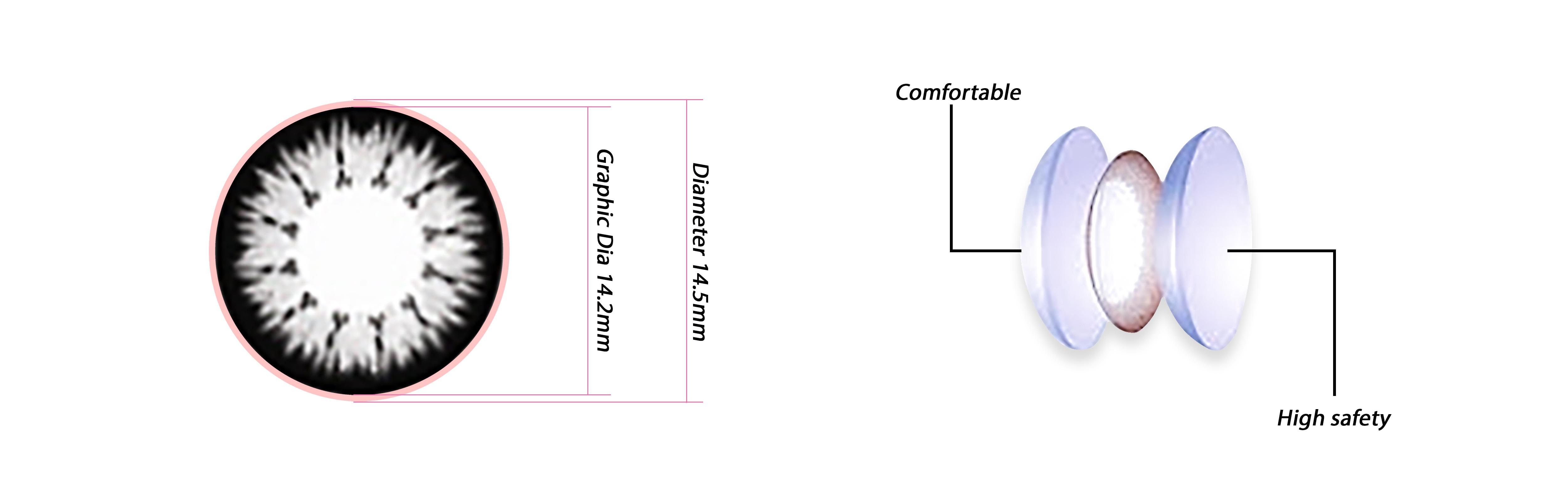 kính áp tròng pc gray an toàn chất lượng cao không bị khô mắt
