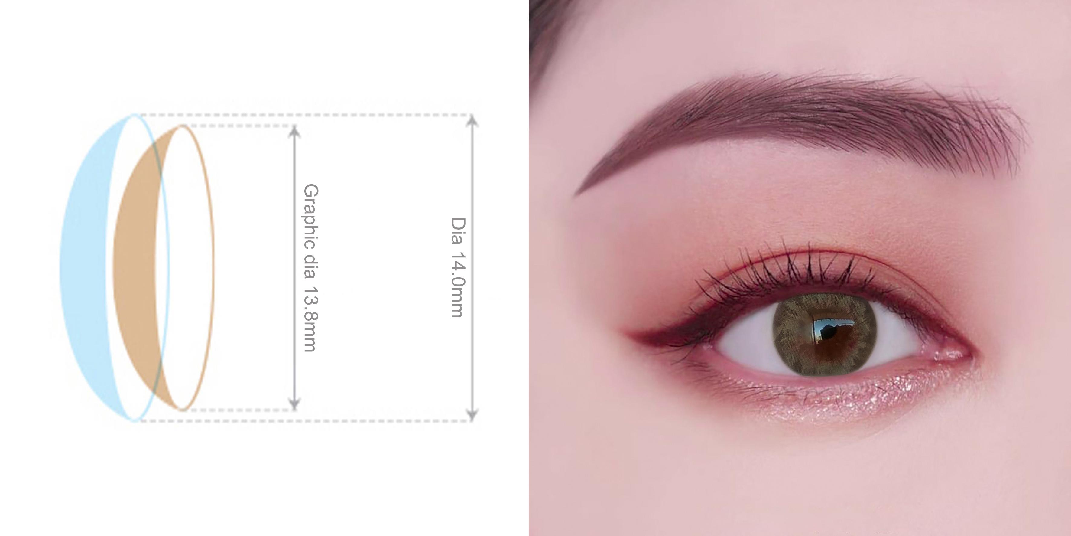 kính áp tròng đường kính 14.0mm